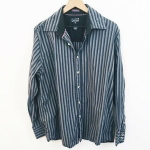 Oakley Stripe Cotton Button Up Shirt XL